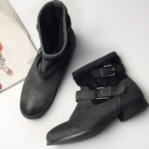 Skechers Black Stagecoach Southwest Ankle Boots
